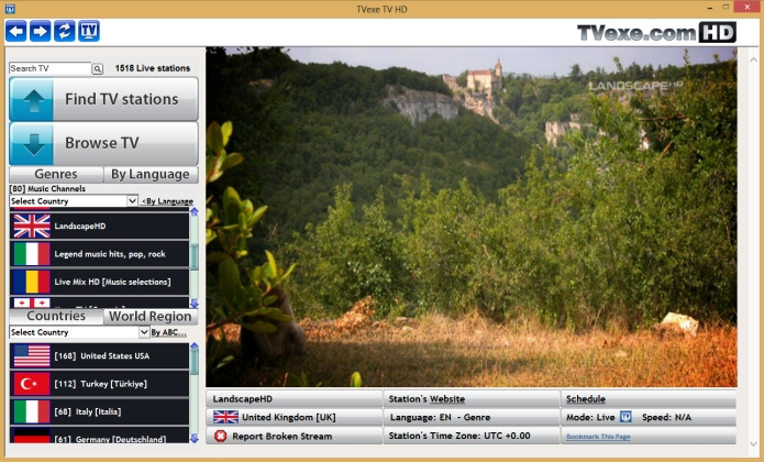 Software Watch 800 Live TV Channels On Your PC, Free Software From TVexe
