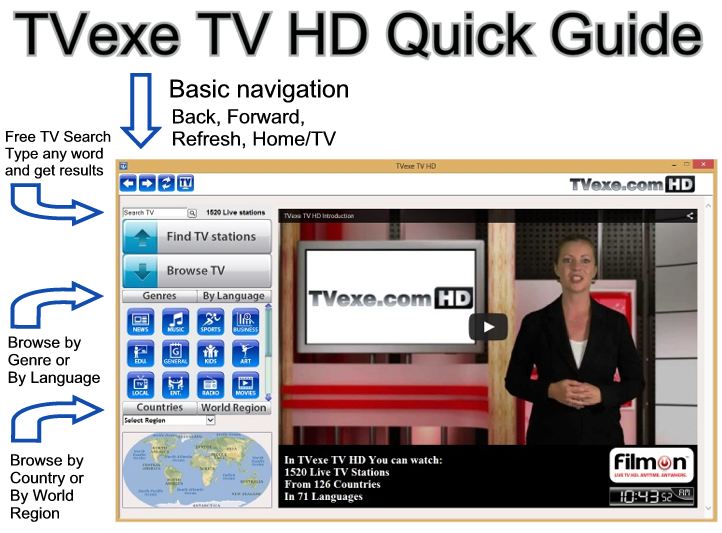 TVexe TV HD Quick Guide