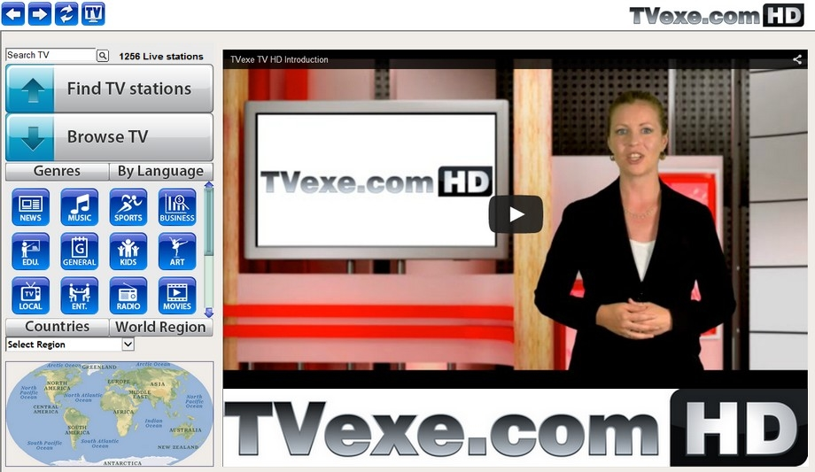Click to view TVexe TV HD screenshots