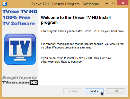 Watch 800+ Live TV channels on your PC, Free Software from TVexe